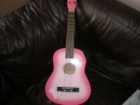 Girls half size accoustic guitar