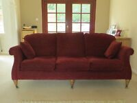 1 x 3 Seater & 1 x 2 Seater Sofas with matching footstool for sale.