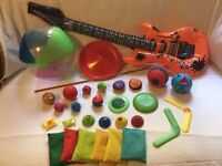 Assorted, used but gd. cond kid's, small toys -zeebeez, balls, beanbags, splat balls, frisbees etc.