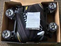 Bauer Supreme Roller Skates with Air Wave wheeld