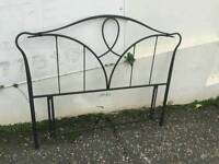Black metal headboard 4ft 6in can deliver