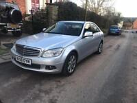 2008 MERCEDES C CLASS SE C220 2.2 DIESEL 6 SPEED MANUAL SILVER 81,773 MILES NEEDS SOME WORK