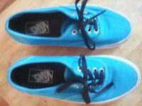 Blue Vans Size 5.5 UK (6 USA)