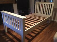 Archers Sedona Single Ivory Wooden Bed Frame