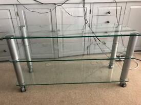 3 Tier Glass TV Table