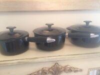 Aga cast iron saucepans