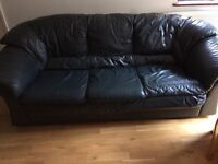 leather sofa, good condition no tears. Buyer collects. Must be gone today, Sunday or Monday.