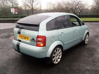 2003 AUDI A2 SPORT,GREEN,1.4,5 SPEED MANUAL,SERVICE HISTORY,S3 ALLOYS WHEELS,TINTED WINDOWS,A3,GOLF