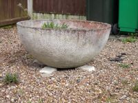 THE 2 LARGE STONE PLANTERS FROM SPAIN