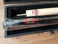 BCE WPS White Platinum Shaft Pool Snooker Cue with Smart Extender's & Riley Case