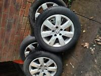 set of four genuine VW Wheels