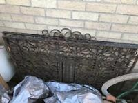 Iron Gates, Pair of. In need a repainting. Good old strong steel! Can deliver. Set1