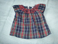 F&F fully lined Plaid Dress 3 – 6 Months