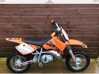 Ktm 50 mini adventure clean tidy bike