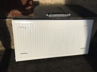 White double radiator 120x60cm. In good condition, recently removed.