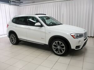 2015 BMW X3 28i x-DRIVE SUV w/ NAVIGATION, PANORAMIC MOONROOF,