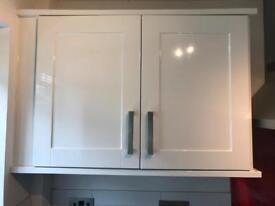 Howdens white burford high gloss kitchen