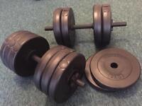 Mirafit Dumbbells 15kg x 2