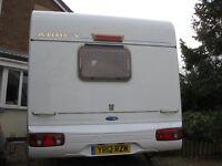 Abbey Cardinal 315 (Aventura+upgrades)2004, 2 berth, mover,alloys, omnivent 3 speed fan, radio/cd