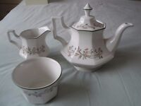 Johnson Bros. ETERNAL BEAU - Teapot, Sugar Bowl & Milk Jug