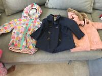 Range of infant jackets in sizes 12 to 18 months and 18 to24 months