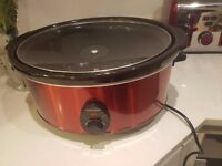 Andrew James Slow Cooker 6.5L - Red Colour