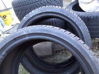 Dunlop SP Winter Sport 3d tyres set.2×245/35r19 and 2×275/30r19 + one tyre free.