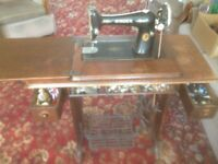 Antique Singer Sewing Machine with Treadle