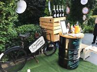 Prosecco / Pimms cocktail bike to HIRE in Sussex