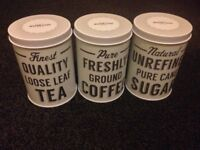 Tea Coffee & Sugar storage cannisters