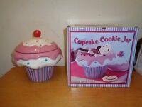 Large cupcake cookie jar