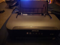 Epson wireless printer with driver disk and cartridges