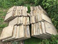 Paving slabs -59 slabs-£2 per slab- garden patio