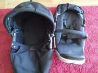 Quinny buzz carrycot and forward rear view seat