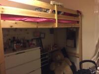 Adult high sleeper bed frame