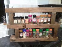 SOLID PINE SPICE RACK