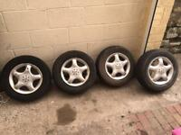 4 x Alloy wheels with good tyres