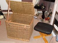 Large hamper, 65 cm by 54 and 54 cm high.