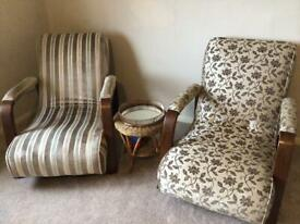 Art Deco armchairs