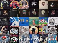 Lots of geeky/nerdy/band t-shirts