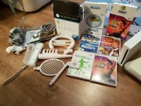 *reduced* Nintendo Wii console + Fitness board + games/accessories