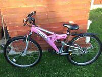"Pink trax womens mountain bike 23"""
