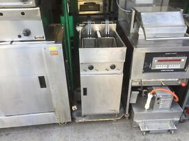 VALENTINE TWIN TANK FRYER CATERING COMMERCIAL FAST FOOD RESTAURANT TAKE AWAY SHOP BAR KITCHEN