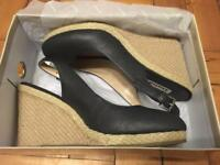 Navy wedges from Dune, size 8/41
