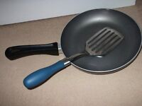 "FRYING PAN 9"" NON STICK WITH SPATULA SUITABLE FOR GAS/ELECTRIC"