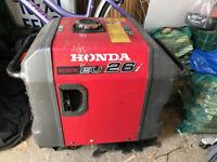 Honda EU26i lightly used generator