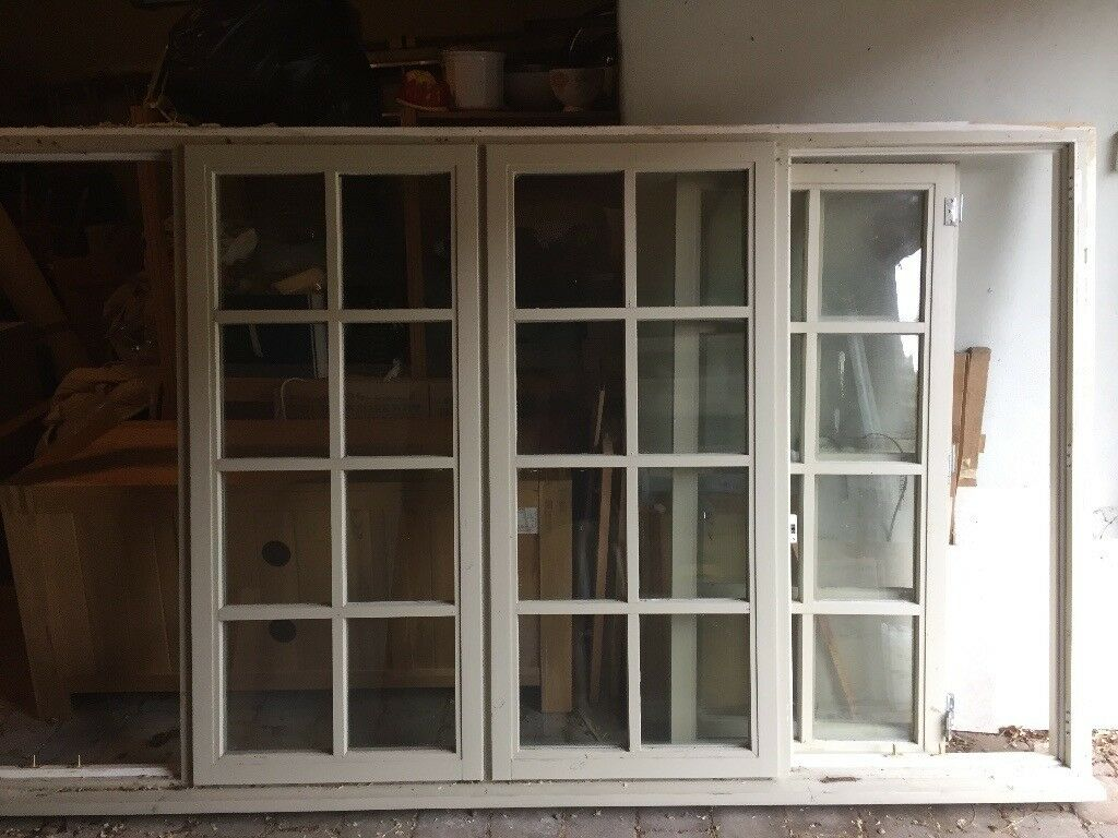 Large glazed wooden window frame | in Harrogate, North Yorkshire ...