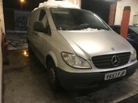 2007 MERCEDES VITO 109 CDI SWB SILVER twin side loading door export cheap van diesel