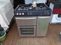 new world duel fuel 5 burner cooker 80cm