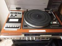 VINTAGE SONY RECORD PLAYER + CASSETTE DECK + RADIO